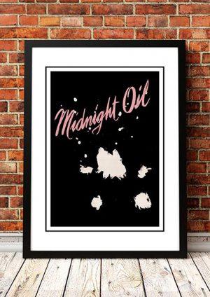 Midnight Oil 'Splashes' Tour Poster 1978