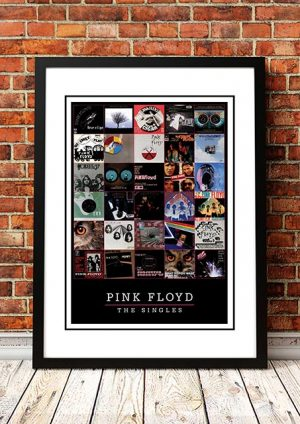 Pink Floyd 'The Singles' In Store Poster 1983
