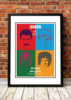 Queen 'Hot Space' In Store Poster 1982