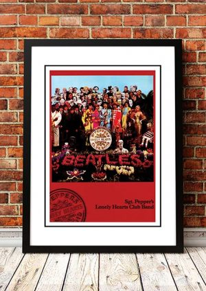 The Beatles 'Sgt Peppers' In Store Poster 1967