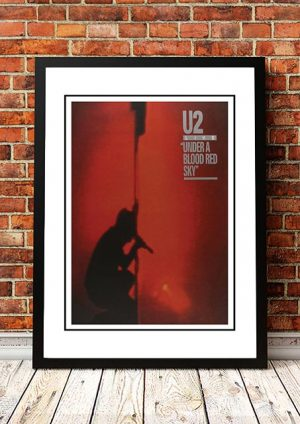 U2 'Under A Blood Red Sky' In Store Poster 1983