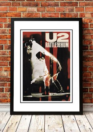 U2 'Rattle And Hum' In Store Poster 1988