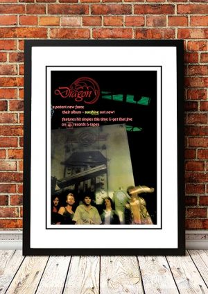 Dragon 'Sunshine' In Store Poster 1977