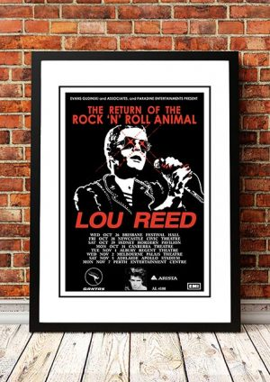 Lou Reed 'Return Of The Rock 'N' Roll Animal' Australia 1974