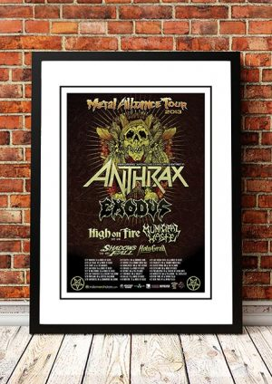 Anthrax 'Metal Alliance Tour' 2013