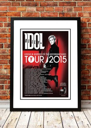 Billy Idol 'Kings And Queens Of The Underground' World Tour 2015
