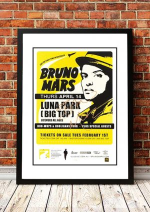 Bruno Mars 'Luna Park' Sydney, Australia 2011