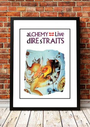 Dire Straits 'Alchemy' In Store Poster 1984