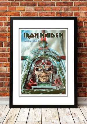 Iron Maiden 'Aces High' In Store Poster 1984