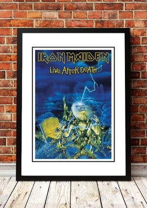 Iron Maiden 'Life After Death' In Store Poster 1985