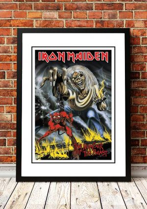 Iron Maiden 'Number Of The Beast' In Store Poster 1982