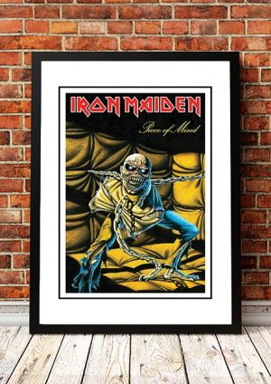 Iron Maiden 'Piece Of Mind' In Store Poster 1983