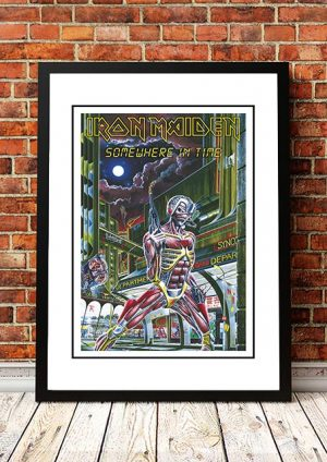 Iron Maiden 'Somewhere In Time' In Store Poster 1986