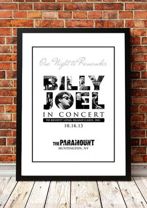 Billy Joel 'Paramount Theatre' NY, USA 2013