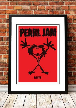 Pearl Jam 'Alive' In Store Poster 1991