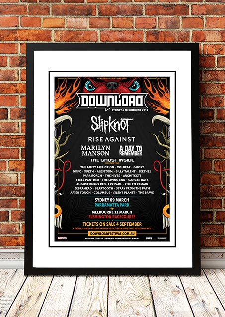 Slipknot / Rise Against / Marilyn Manson 'Download Festival' Australia 2019