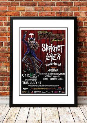 Slipknot / Slayer / Motorhead 'Mayhem Festival' Dallas, USA 2008