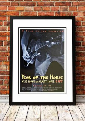 Neil Young 'Year Of The Horse' Movie Poster 1997