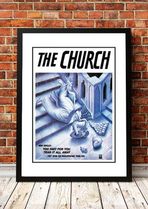 The Church 'Too Fast For You' In Store Poster 1982