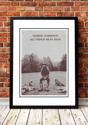 George Harrison 'All Things Must Pass' In Store Poster 1970