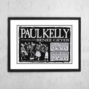Paul Kelly / Renee Geyer 'Tour Poster' 1995
