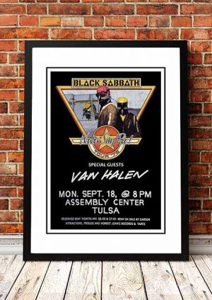 Black Sabbath / Van Halen 'Assembly Centre' Tulsa, USA 1978