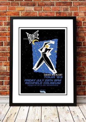 David Bowie 'Serious Moonlight' Cleveland, USA 1983