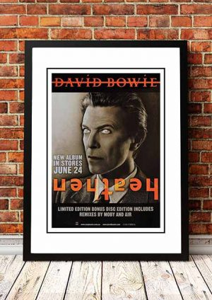 David Bowie 'Heathen' In Store Poster 2002