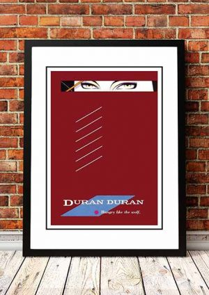 Duran Duran 'Hungry Like The Wolf' In Store Poster 1982