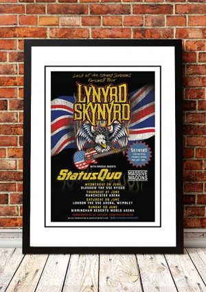 Lynyrd Skynyrd / Status Quo 'Last Of The Street Survivors Farewell Tour 2019