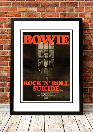David Bowie 'Rock 'N' Roll Suicide' In Store Poster 1972