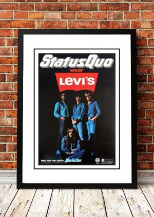 Status Quo 'Blue For You' In Store Poster 1976