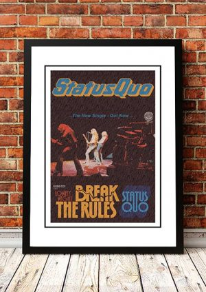 Status Quo 'Break The Rules' In Store Poster 1974