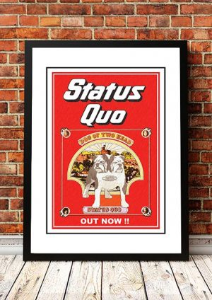 Status Quo 'Dog Of The Two Head' In Store Poster 1971