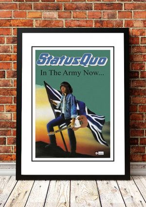 Status Quo 'In The Army Now' In Store Poster 1986