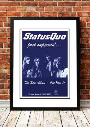 Status Quo 'Just Supposin' In Store Poster 1980