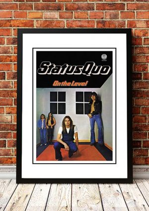 Status Quo 'On The Level' In Store Poster 1975