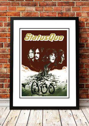 Status Quo 'Quo' In Store Poster 1974