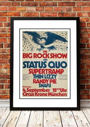 Status Quo / Supertramp / Thin Lizzy 'The Big Rock Show' Festival 1975