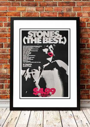 The Rolling Stones 'The Best' In Store Poster 1978