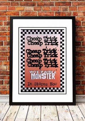 Cheap Trick 'Woke Up With A Monster' In Store Poster 1994