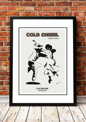 Cold Chisel 'Twentieth Century' In Store Poster 1984