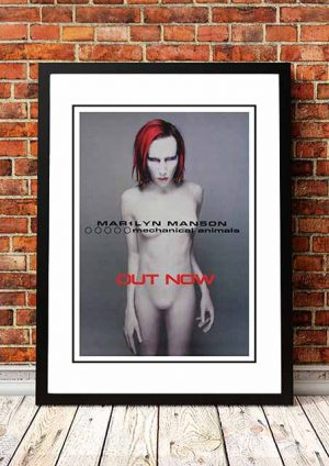 Marilyn Manson 'Mechanical Animals' In Store Poster 1998