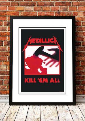 Metallica 'Kill Em All' In Store Poster 1983
