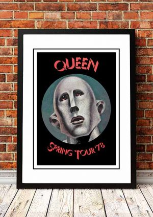 Queen 'Spring Tour' In Store Poster 1978