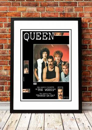 Queen 'The Works (BLACK)' In Store Poster 1984