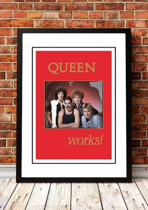 Queen 'The Works (RED)' In Store Poster 1984