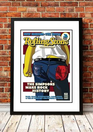The Simpsons 'Born In The USA' Rolling Stone Front Cover 2002