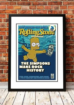 The Simpsons 'Nevermind' Rolling Stone Front Cover 2002