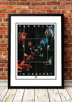 Van Halen 'Debut Album' In Store Poster 1978